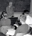 students at desks high school 50s