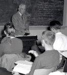 students at desks high school 50s